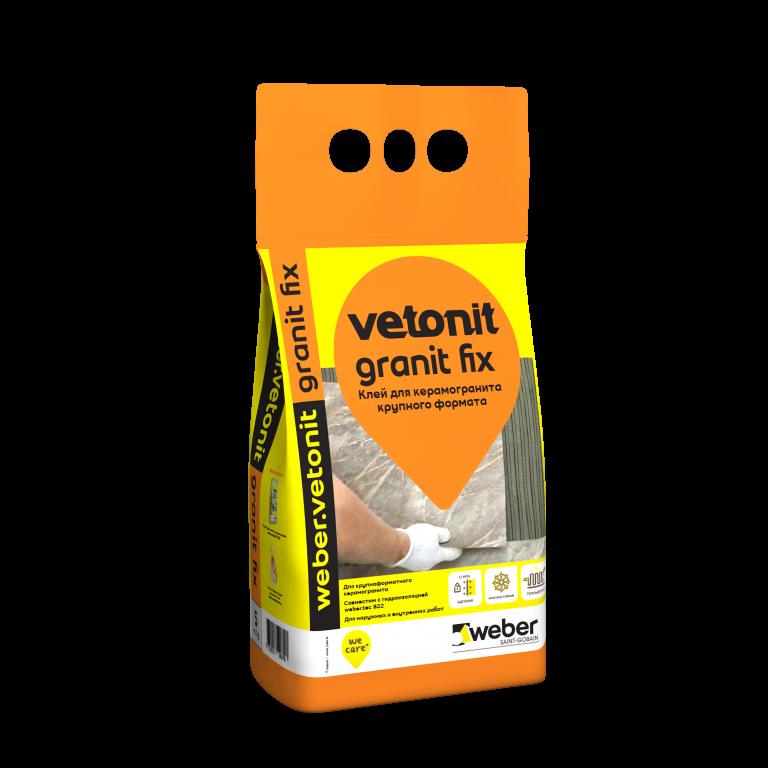 Клей для керамогранита крупного формата weber.vetonit granit fix 25 кг