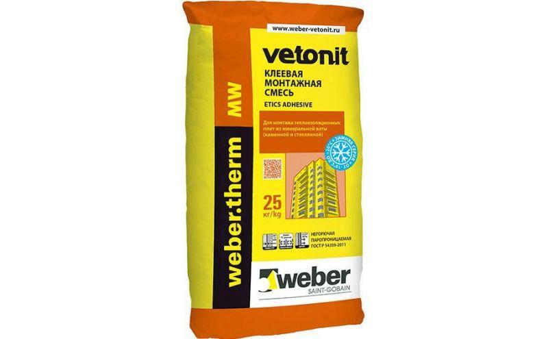 Клеевая смесь для монтажа минеральной ваты weber.therm MW