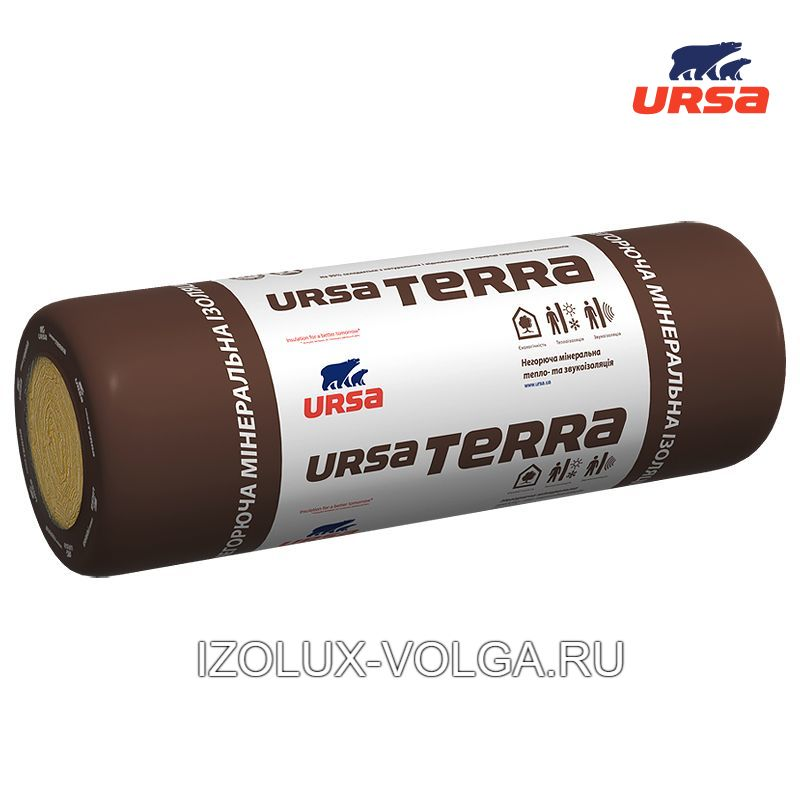 Утеплитель URSA TERRA 34 RN Технический мат 4800х1200х100мм 1 плита