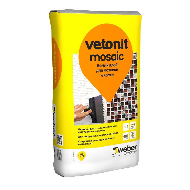 Белый клей для мозаики и камня weber.vetonit mosaic