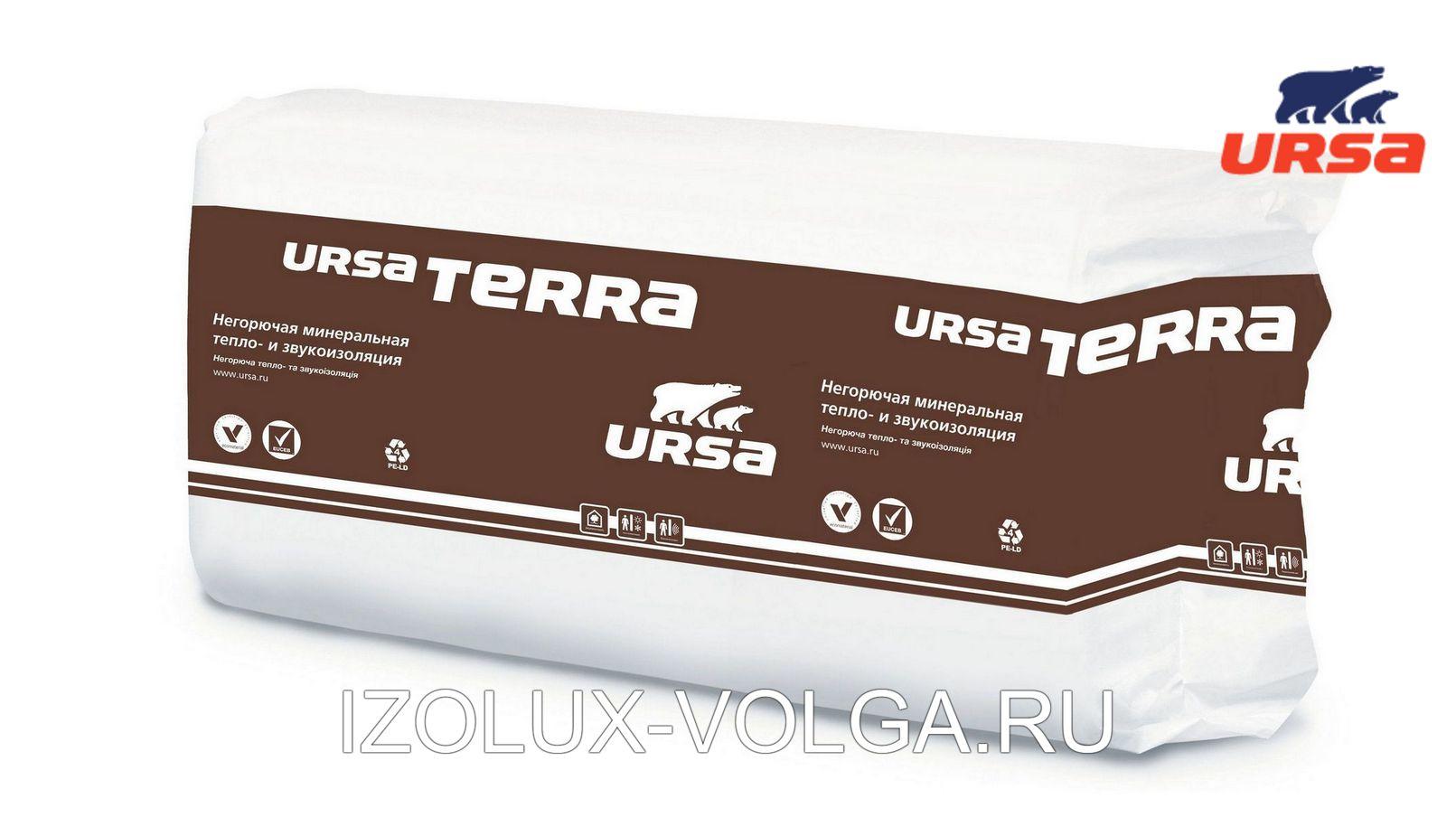 Утеплитель URSA TERRA 34 PN PRO 1250х610х100мм 12 плит