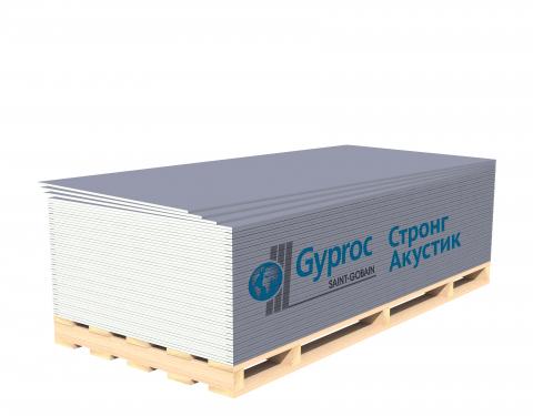Гипсокартонный лист Гипрок Стронг Акустик 15х1200х2500мм
