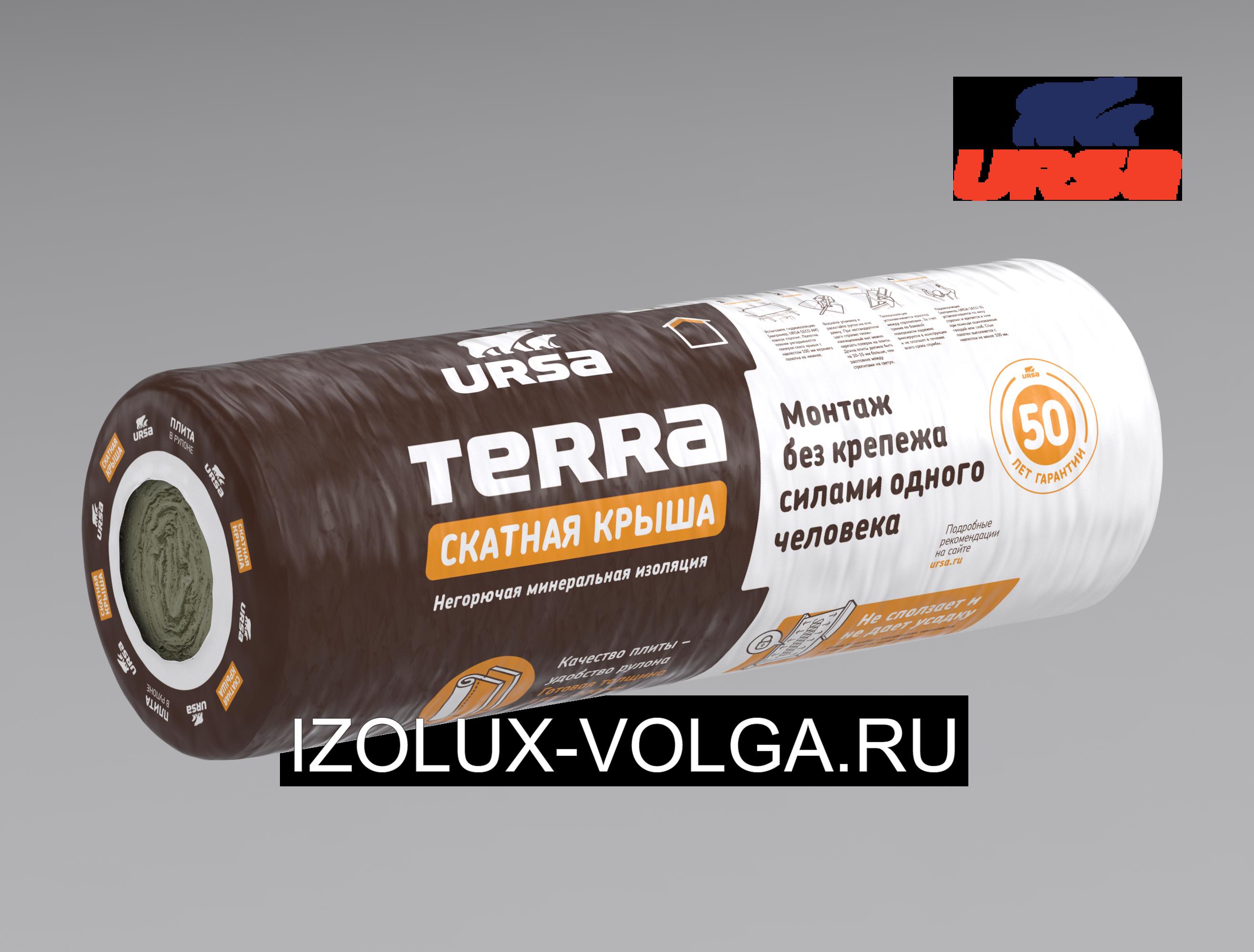 URSA TERRA Скатная крыша 35 QN 3000x1200x180 4,2 м2