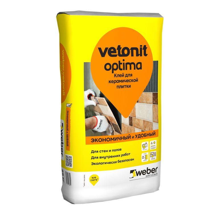 Клей для керамической плитки weber.vetonit optima