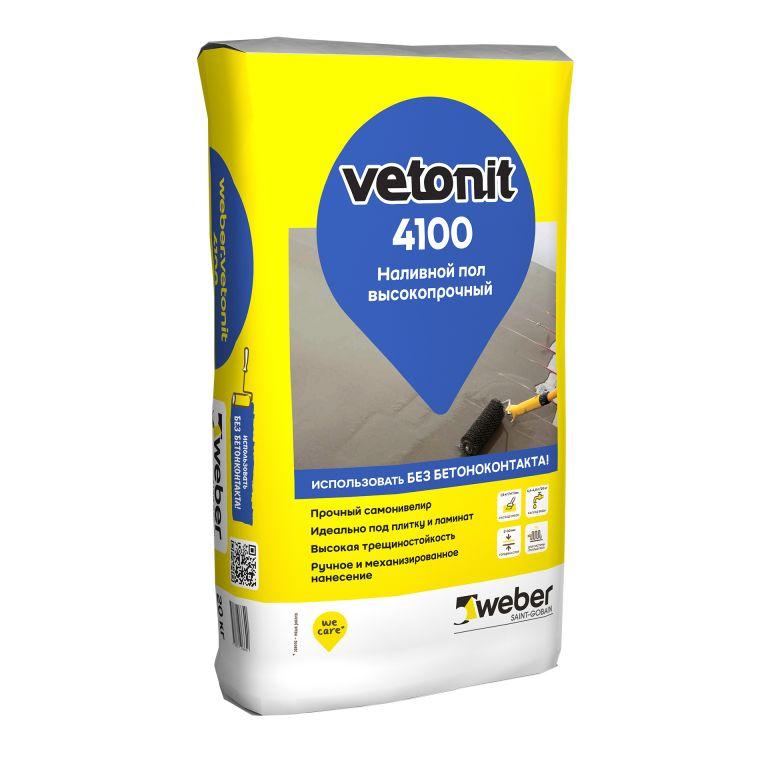 Высокопрочный наливной пол weber.vetonit 4100