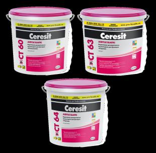 Штукатурка Ceresit CT 60/CT 63/СТ 64 акриловые декоративные