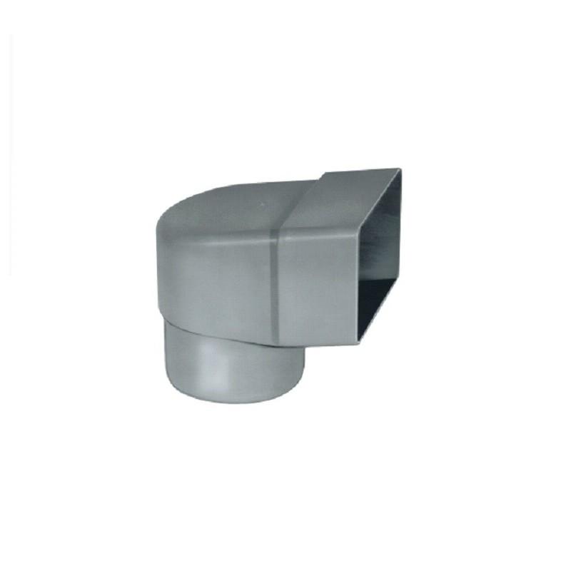 Угловой отвод прямоугольный 65x100/D100 для парапета