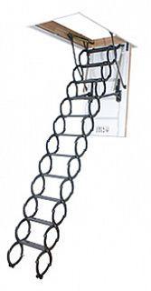 Лестница чердачная ножничная металлическая LST термоизоляционная