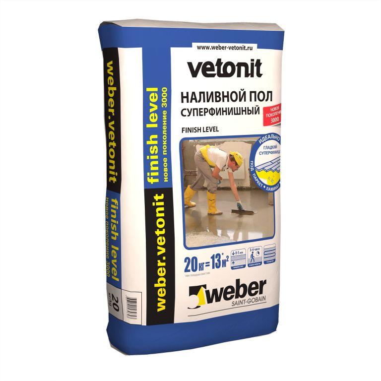 Суперфинишный наливной пол weber.vetonit finish level